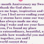 1 Month Anniversary Message Facebook