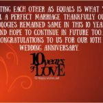 10 Years Wedding Anniversary Wishes Twitter