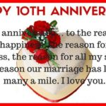 10th Wedding Anniversary Wishes To Husband Facebook