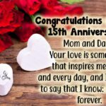 15th Wedding Anniversary Wishes For Friends Pinterest