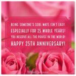 25th Wedding Anniversary Message