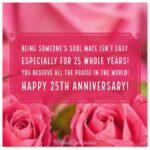 25th Wedding Anniversary Message