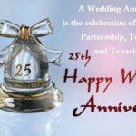25th Wedding Anniversary Words Facebook