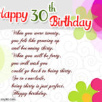 30th Birthday Card Messages