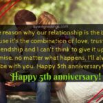 5th Anniversary Message For Husband Pinterest