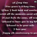 5th Anniversary Wishes For Wife Twitter