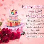 Advance Birthday Wishes For Best Friend Facebook