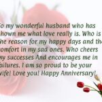 Anniversary Love Quotes For Husband Facebook