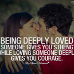 Being Deeply Loved By Someone Gives You Strength Meaning Twitter