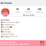 Bio Of Instagram For Girl Pinterest