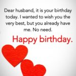Birthday Message For Hubby