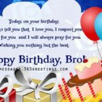 Birthday Message To My Brother