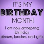 Birthday Month Quotes Tumblr