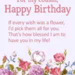 Birthday Wishes For A Special Cousin Twitter
