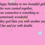 Birthday Wishes For Twin Sisters Twitter