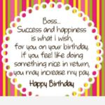 Birthday Wishes For Your Boss Twitter
