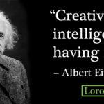 Einstein Creativity Is Intelligence Having Fun