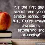 Encouraging Words For A Child's First Day Of School Twitter