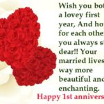 First Year Wedding Anniversary Wishes Pinterest