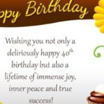 Funny 40th Birthday Wishes Facebook