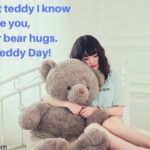 Girl With Teddy Bear Quotes Pinterest