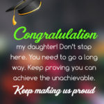 Graduation Message For Daughter