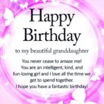 Granddaughter Birthday Verses