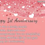 Happy 1st Anniversary Wishes Pinterest