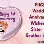 Happy 1st Wedding Anniversary Message Facebook