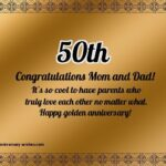 Happy 50th Anniversary Quotes Facebook