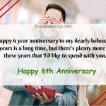 Happy 6th Anniversary Wishes