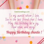 Happy Birthday Auntie Message Facebook