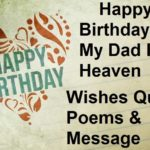 Happy Birthday Dad In Heaven Messages