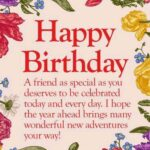 Happy Birthday Greetings To A Friend Pinterest