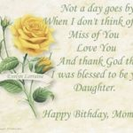 Happy Birthday Mom In Heaven Message Pinterest