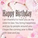 Happy Birthday Sister In Law Images And Quotes Facebook