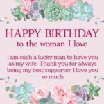 Happy Birthday Wishes For Wife Pinterest