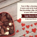 Happy Chocolate Day Wishes For Girlfriend Pinterest