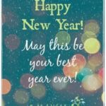 Happy New Year Wishes Card Pinterest