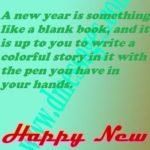 Happy New Year Wishes English Pinterest