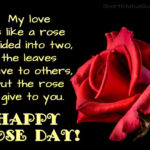 Happy Rose Day Caption Pinterest