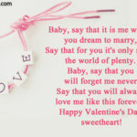 Happy Valentines Baby Quotes