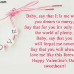 Happy Valentines Baby Quotes