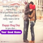 Hug Day Image With Name Pinterest