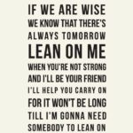 Lean On Me Quotes Facebook