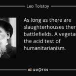 Leo Tolstoy Vegan Quotes