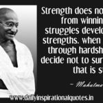 Mahatma Gandhi Strength Quotes Twitter