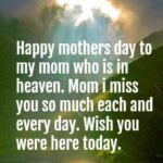 Mothers Day Message In Heaven Pinterest