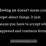 Move On Quotes English
