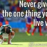 Never Give Up Football Quotes Pinterest
